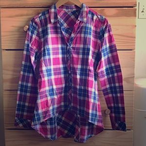 Caterpillar Hi-Lo Plaid Button Up Shirt